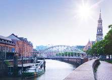 Speicherstadt warehouse district in Hamburg Stock Photos