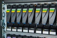 Speichersystem im Rechenzentrum Stockfotos