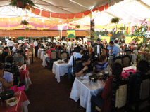 Speisen an der Gaststätte Stockfotografie