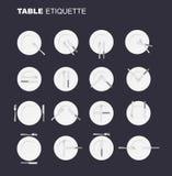 Speisen der nicht offiziellen Version der Etikette 16 Charaktere zum Restaurant Lizenzfreie Stockbilder