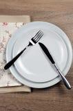 Speisen von Etikette stockfotos