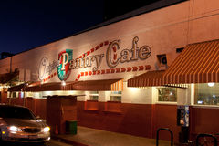Speiseschrank-Café in im Stadtzentrum gelegenem Los Angeles lizenzfreies stockbild