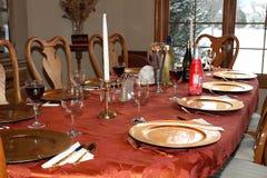 Speisetisch des Feiertags Lizenzfreies Stockfoto