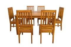 Speisetisch und Stühle lokalisiert Lizenzfreies Stockfoto