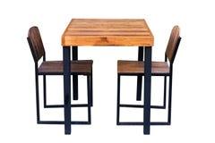 Speisetisch und Stuhl stockfotos