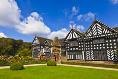 Speke Hall Elizabethan mansion and grounds. Stock Image
