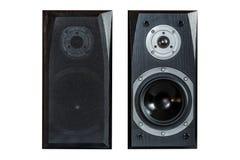 Speker nero due Fotografia Stock Libera da Diritti