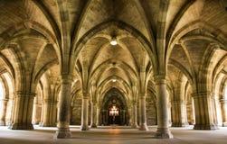 Spektakulär arkitektur inom universitetet av Glasgow huvudbyggnad Royaltyfri Foto