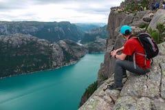 Spektakulär norsk geografi och ställen som ska besökas arkivbilder