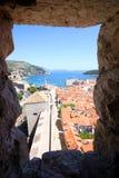 Spektakulär sikt i Dubrovnik Royaltyfri Bild