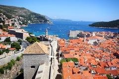 Spektakulär sikt i Dubrovnik Royaltyfri Fotografi