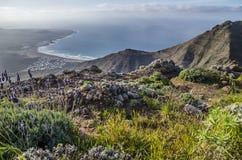 Spektakulär sikt, Lanzarote, Spanien arkivfoto