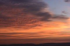 Spektakulär soluppgång i Afrika Fotografering för Bildbyråer