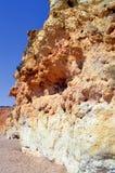 Spektakulära klippor på Nova Beach Arkivfoto