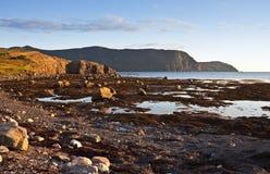 Spektakulära Rocky Harbour, Newfoundland Arkivfoton