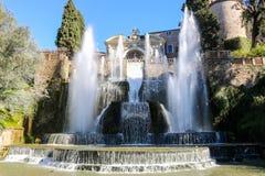 Spektakularna fontanna w willa d ` Este zdjęcie royalty free