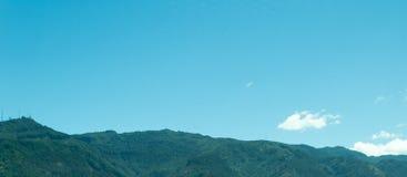 Spektakularna halna panorama zdjęcia stock