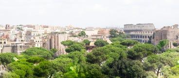 Spektakularna panorama Rzym, Włochy obrazy stock