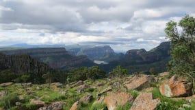 Spektakularna panoramy trasa Zdjęcia Royalty Free