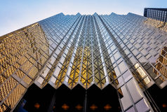 Spektakularna złota fasada Royal Bank placu budynek obrazy royalty free