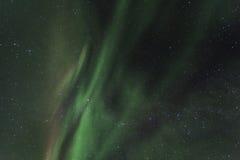 Spektakularni zorz borealis (północni światła) Zdjęcia Royalty Free