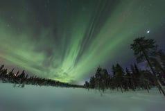 Spektakularni zorz borealis (północni światła) Zdjęcia Stock