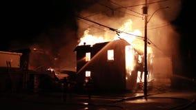 Spektakularny domu ogień zdjęcie wideo