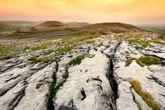 Spektakularny krajobraz w Burren regionie okręg administracyjny Clare, Irlandia fotografia royalty free