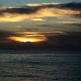 Spektakularny morski zmierzch Obrazy Royalty Free