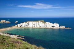 Spektakularny plażowy Playa De Los Covachos, Cantabria zdjęcie royalty free