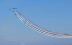 Spektakularny pokaz lotniczy w Włochy zdjęcia stock