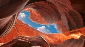 Spektakularny widok antylopa jar, Arizona zdjęcie stock