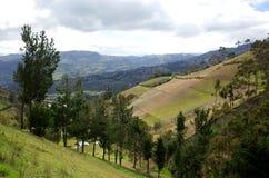 Spektakularny widok Ekwadorscy Andes Zdjęcie Stock
