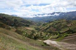 Spektakularny widok Ekwadorscy Andes Fotografia Stock