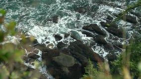 Spektakularny widok linia brzegowa z falezami i dzikim oceanem zbiory