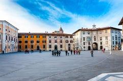 Spektakularny widok na antycznym squ Pisa Włochy, Dec - 29, 2017 - obraz stock