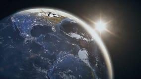 Spektakularny widok nasz planeta od przestrzeni ilustracji