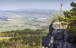 Spektakularny widok od wierzchołka Strzeliniec Wielki szczyt, Polska Obrazy Royalty Free