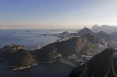 Spektakularny widok Rio De Janeiro przy zmierzchem fotografia stock