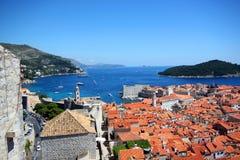 Spektakularny widok w Dubrovnik Zdjęcia Stock