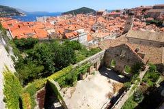 Spektakularny widok w Dubrovnik Zdjęcie Royalty Free