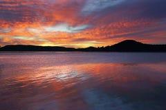 Spektakularny wschód słońca przy Koolewong Fotografia Royalty Free