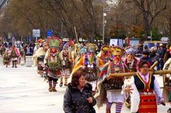 Spektakulär karnevalprocession Royaltyfria Bilder