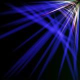 Spektral- och blåa strålar Arkivbilder