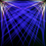Spektral- und blaue Strahlen Stockfotografie