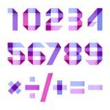 Spektralbuchstaben gefaltet vom Papierband Lizenzfreie Stockfotografie