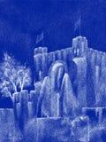 Spektrales mittelalterliches Schloss Stockfotografie