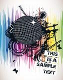 Spektralparty-Plakat stockbilder