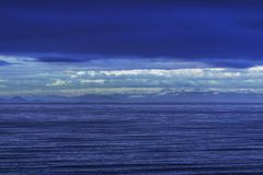 Spektrum av blå seascape arkivbild
