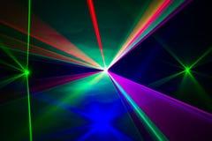Spektrum av laserstrålar royaltyfri bild